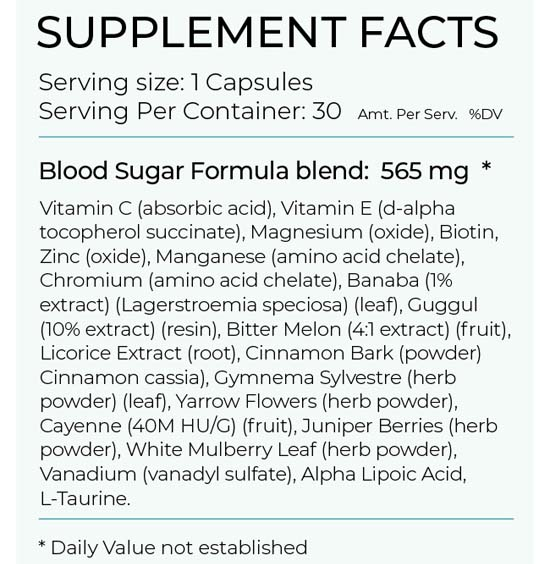 Blood Sugar Formula Ingredients