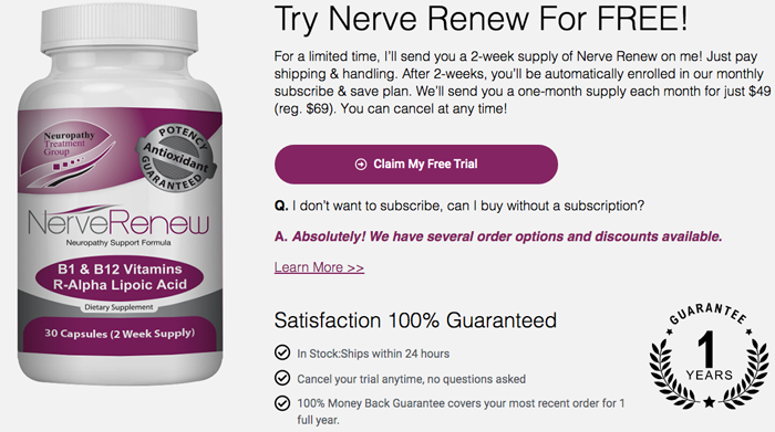 nerverenew trial