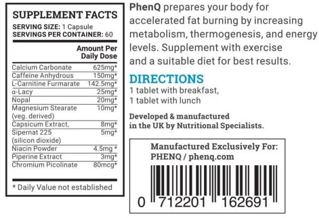 phenq ingredients