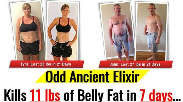 Flat Belly Fix before after