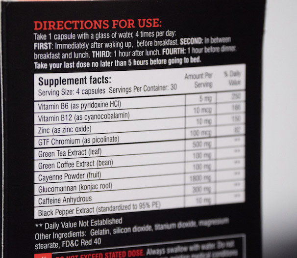 instant knockout ingredients