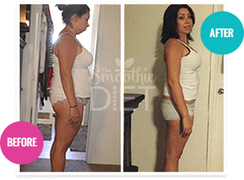 smoothie diet before after