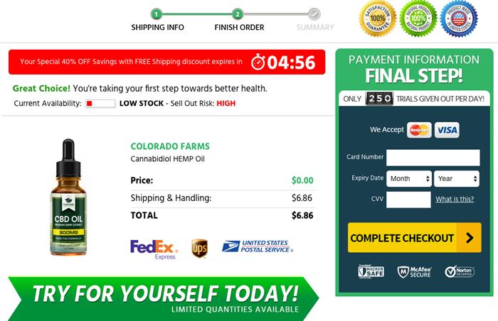 Buy Colorado Hemp Farms CBD Oil Trial