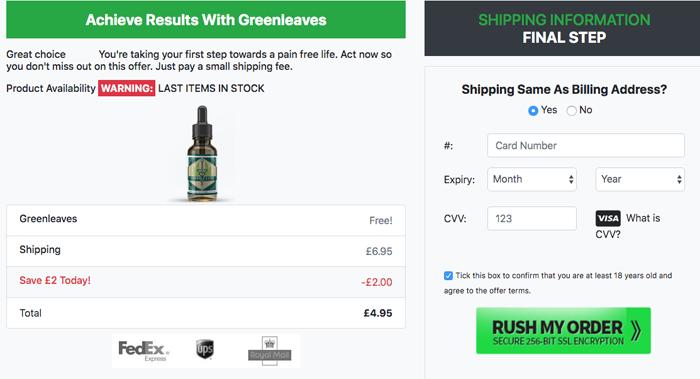 Green Leaves CBD price