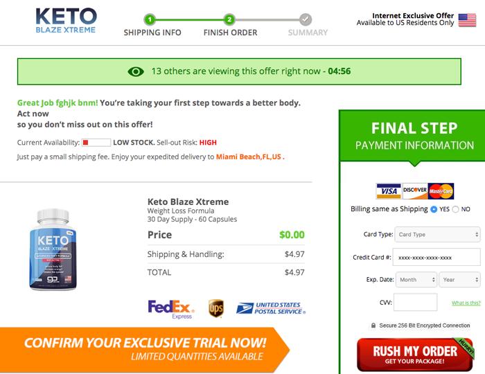 Order Keto Blaze Xtreme Trial