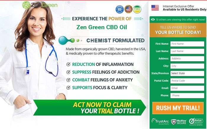 buy zen green cbd oil