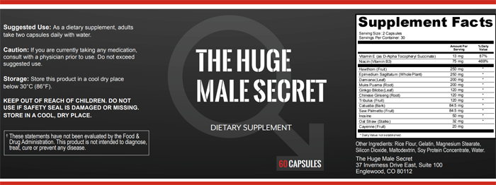 huge male ingredients