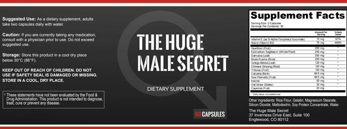huge male ingredients