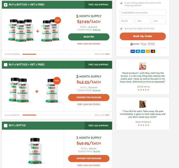 natures boost cbd gummies-price