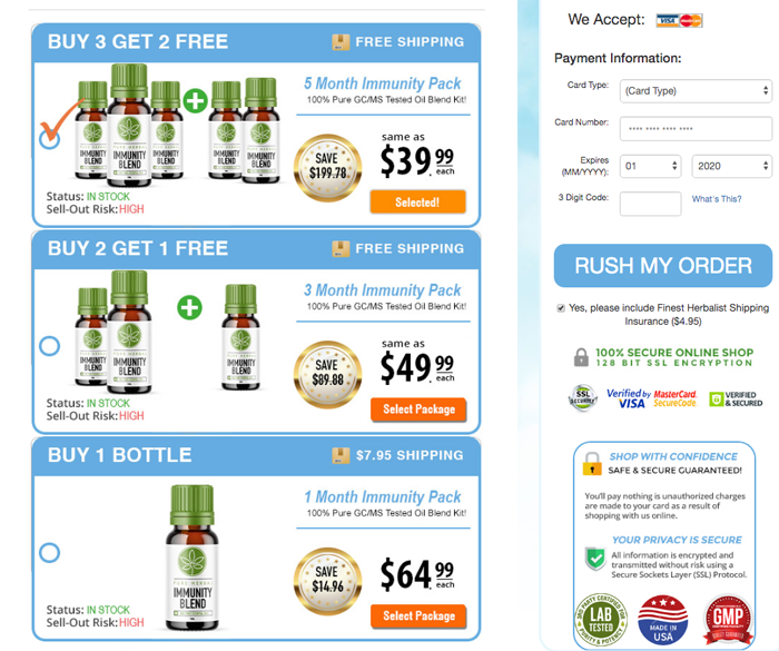 Pure herbal immunity blend price