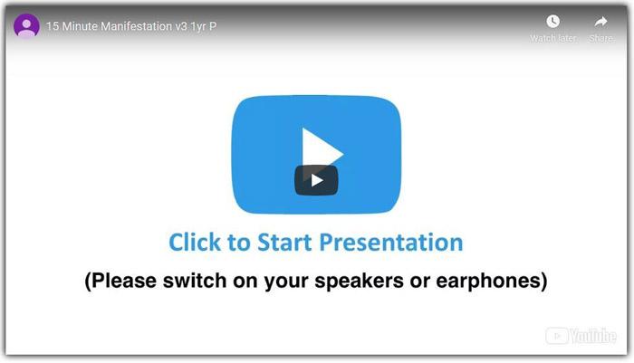 15 minute manifestation program