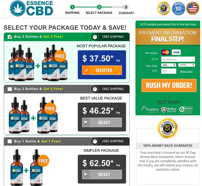 Essence CBD Pure Oil price