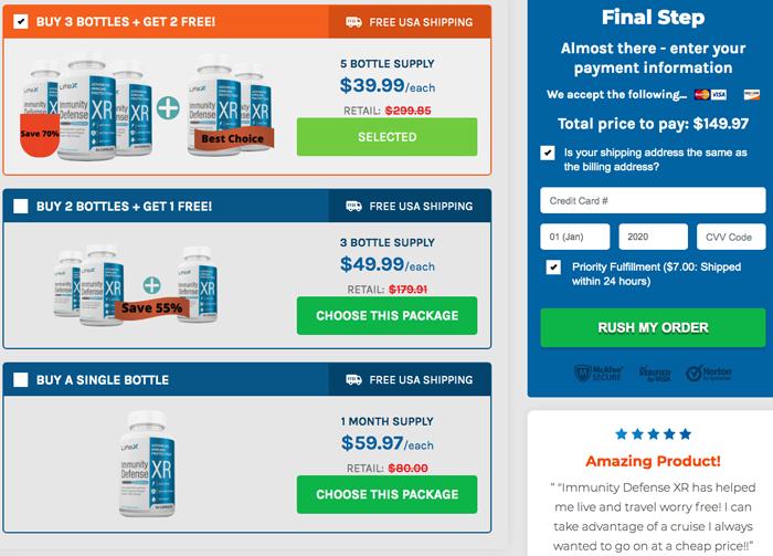 LifeX Immunity Defense price