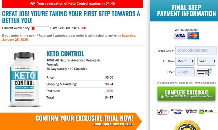 Buy Vital Nutrition Keto Control Trial