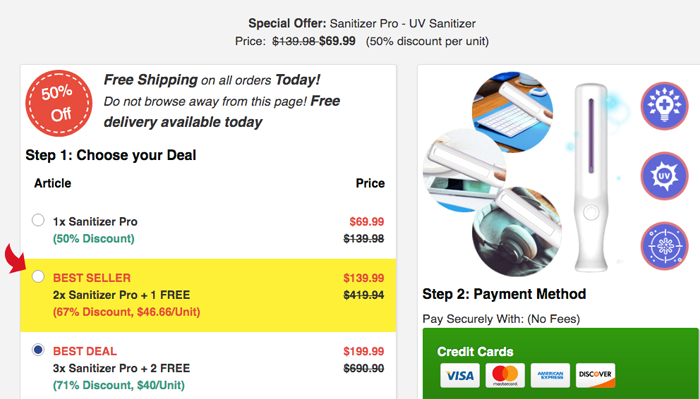 Sanitizer Pro price