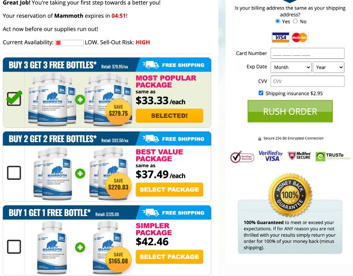 Mammoth Male Enhancement Price