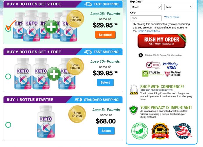 Advanced Formula Keto Price