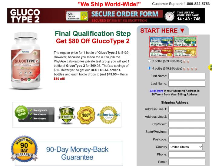 GlucoType 2 price