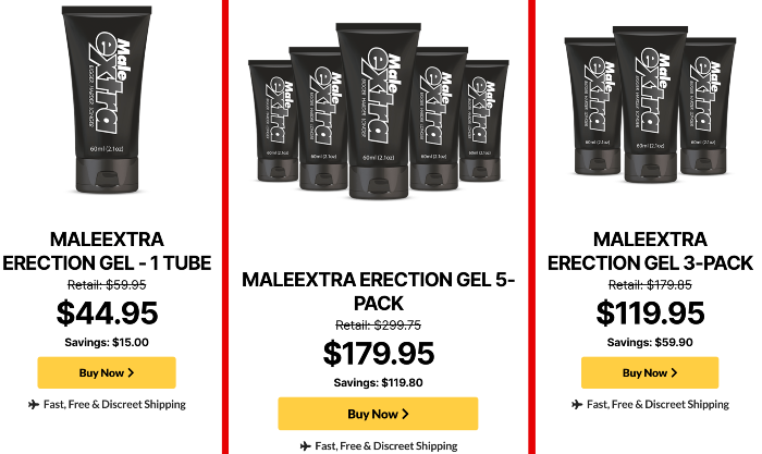 MaleExtra erection gel price