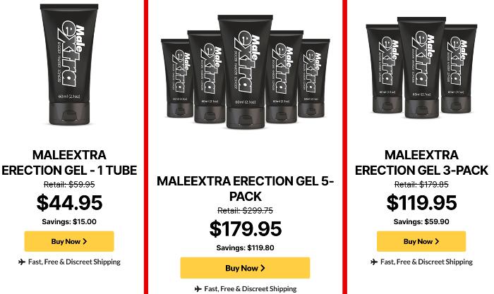 MaleExtra erection gel price