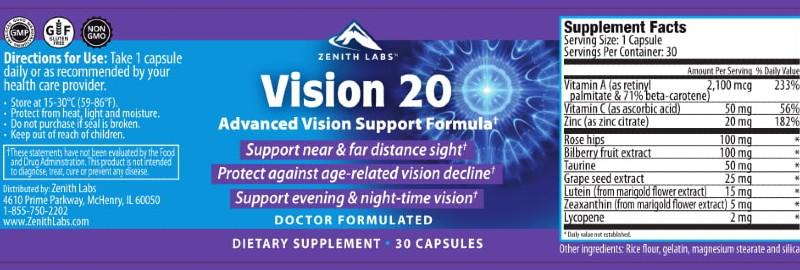 vision20 label