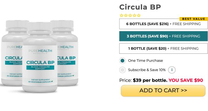 Circula BP price